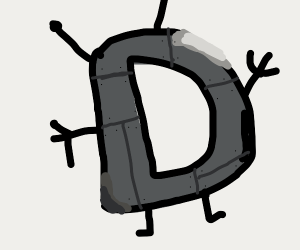 the default drawception avatar as a robot