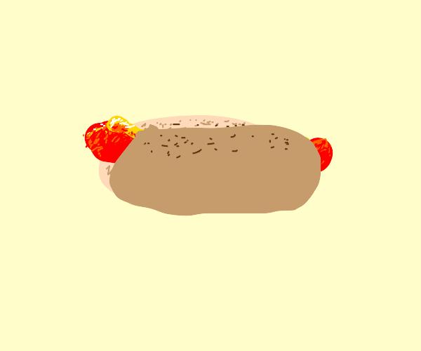 A very detailed hotdog