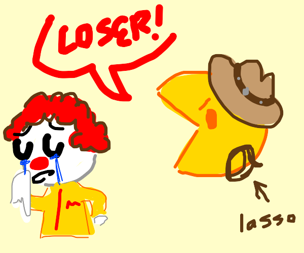 western pacman bullies a clown