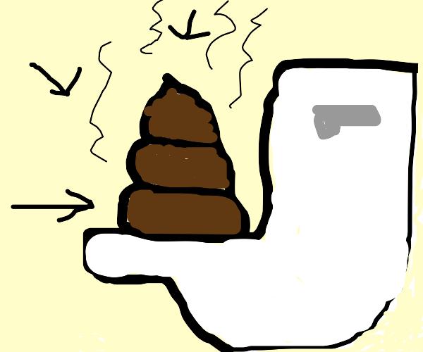 a literal pile of poop