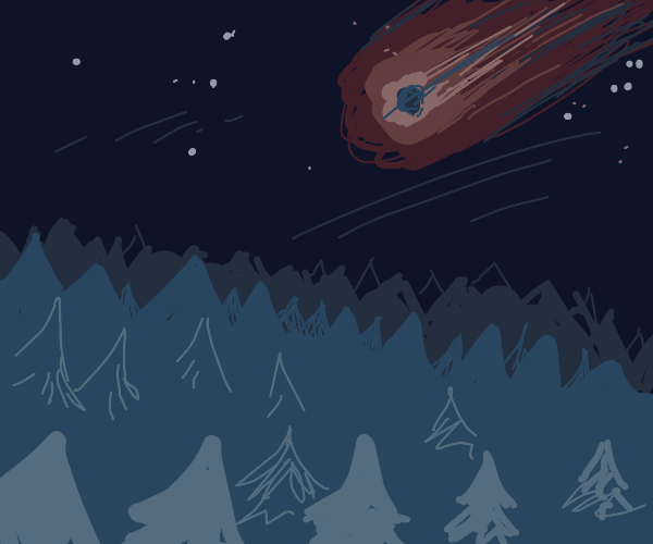 Meteor about to crash into Forest