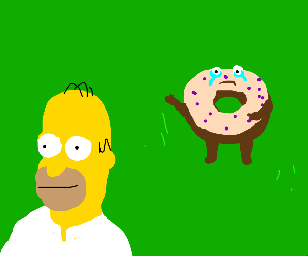 Happy Homer with Donught