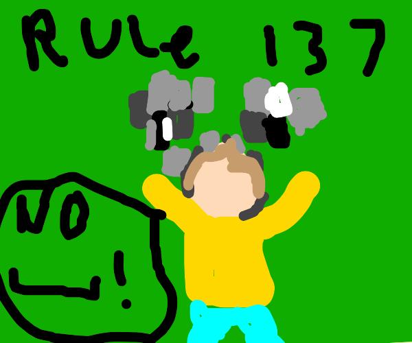 Drawception rule #137 no genitals!