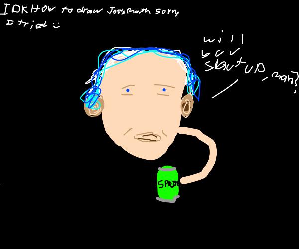 JoeBidenWithBlueHairSlurpsSomething(Sprite);)