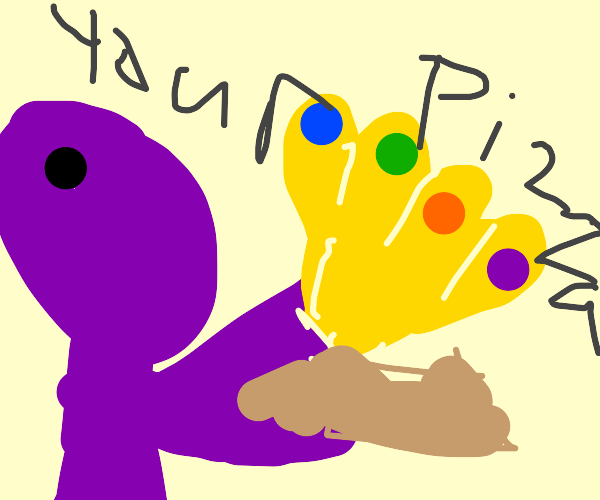 Thanos now delivers pizza