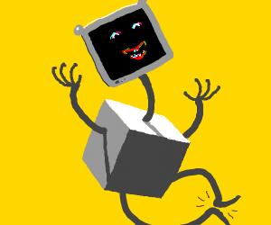 Happy cube robot