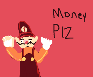 Waluigi begging for money
