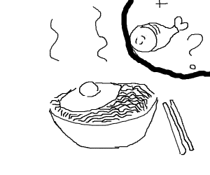 ramen with egg and ham?