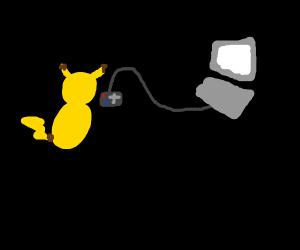 Pikachus playing