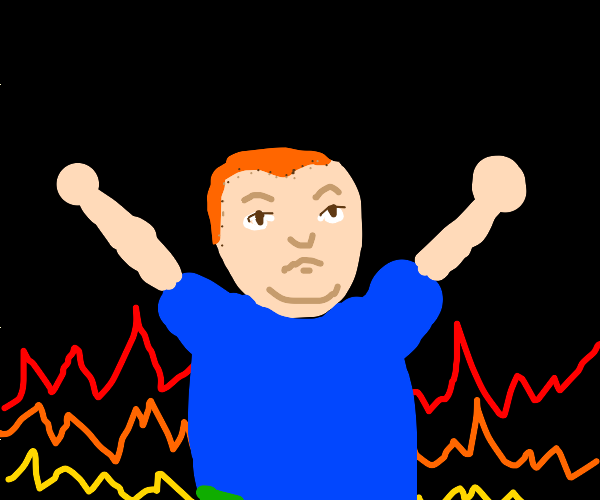 Bobby hill has entered the pits of hell
