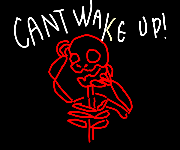 red skull screaming he cant wake up