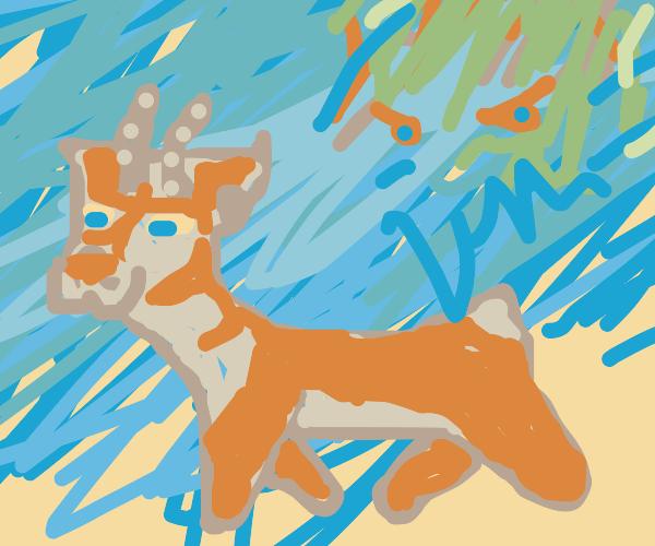 deer/cat hybrid familiar wakes you of nightma