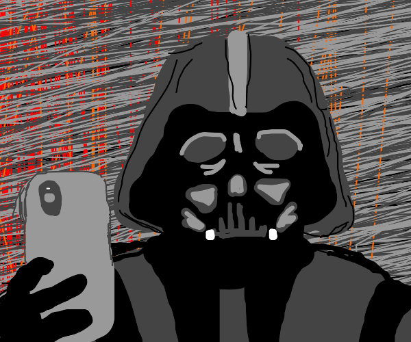 Darth Vader gets phone anxiety