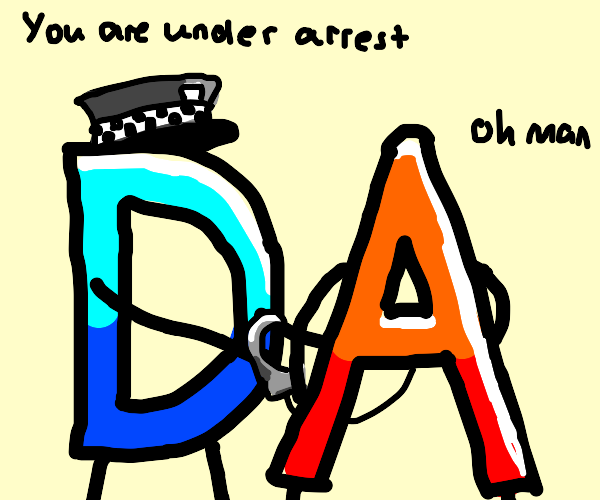 Drawception D imprisons red A