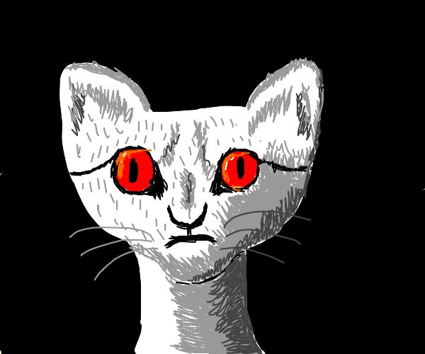 Cat demon dreaming of overworld