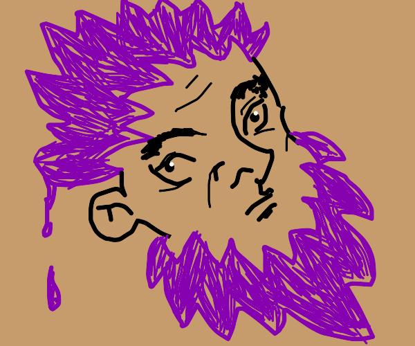 man with hair dyed beard