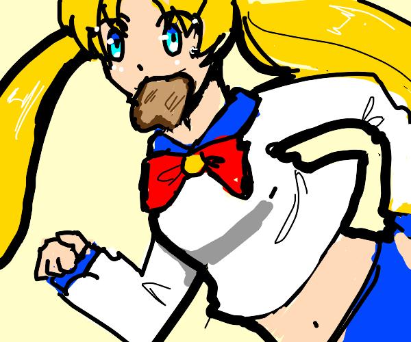 Sailor Moon eats toast