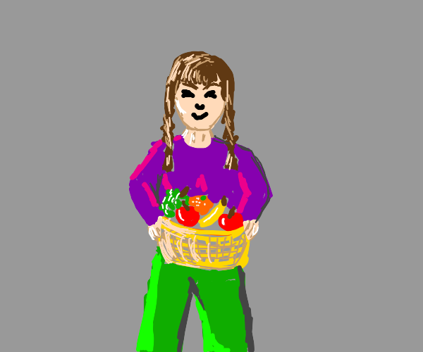 girl with fruit basket