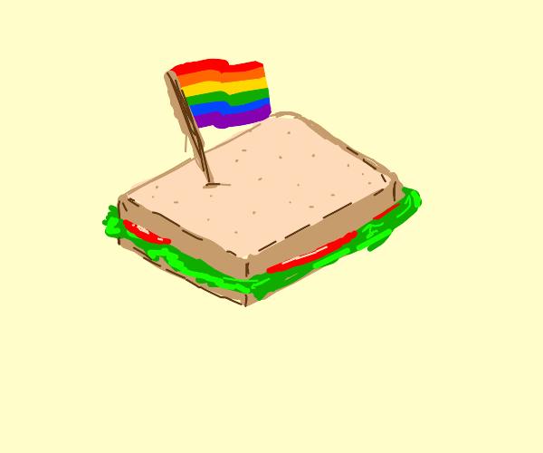A rainbow sandwich.