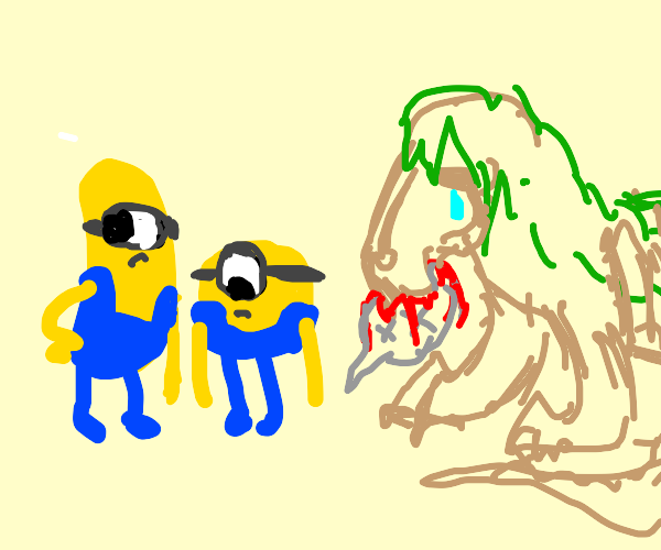 Two minions from despicable me ignore scp 682