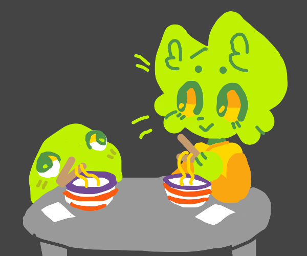 Eating Noodles with a Blob