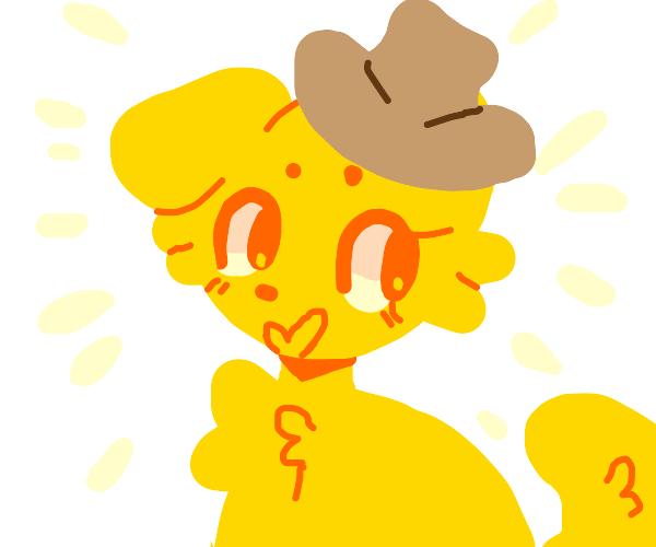 Doggo with a hat