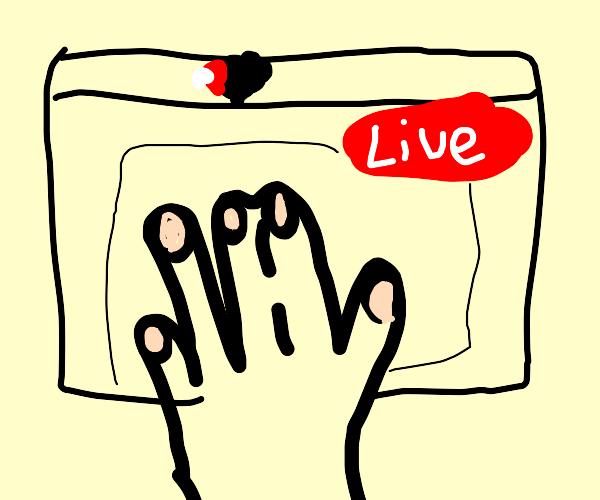 Hand Livestreamer