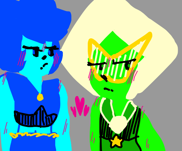 lapis and peridot from steven universe