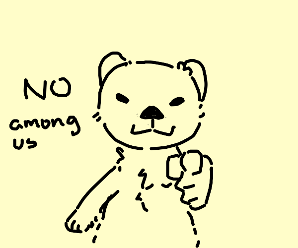 Otter points at you and says no among us