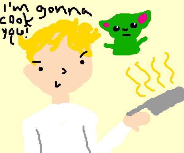 Gordon Ramsay wants to cook baby Yoda.