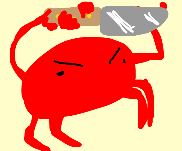 mad crab had enough of people stepping on him