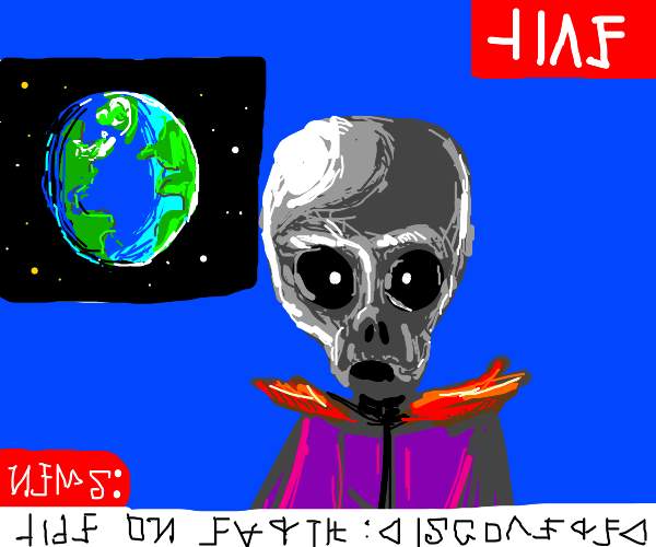 Alien news about Earth