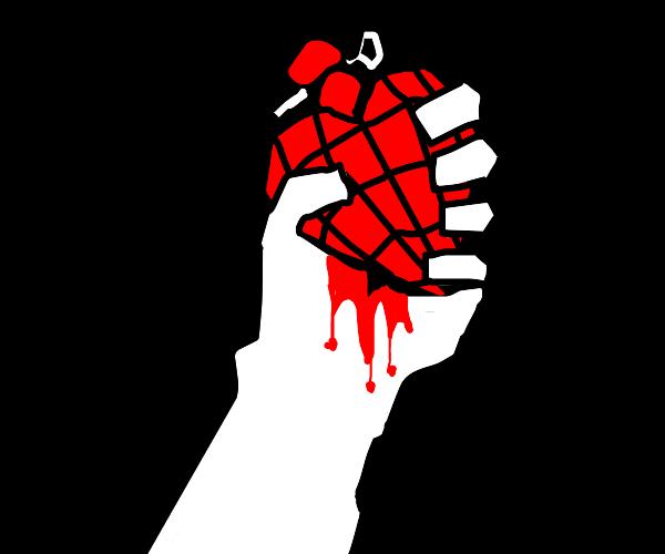 hand crushing heart