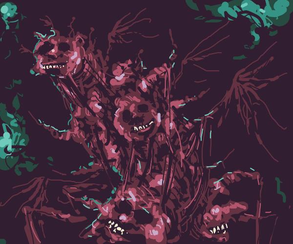 Give me idea: Bathys, carrion god of the deep