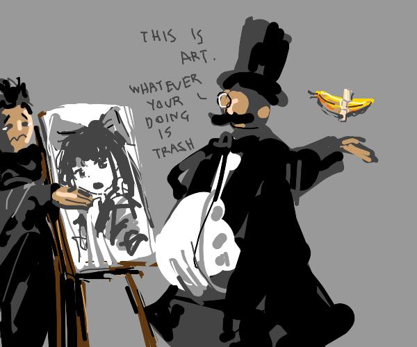 art connoisseur when he sees ur anime doodles