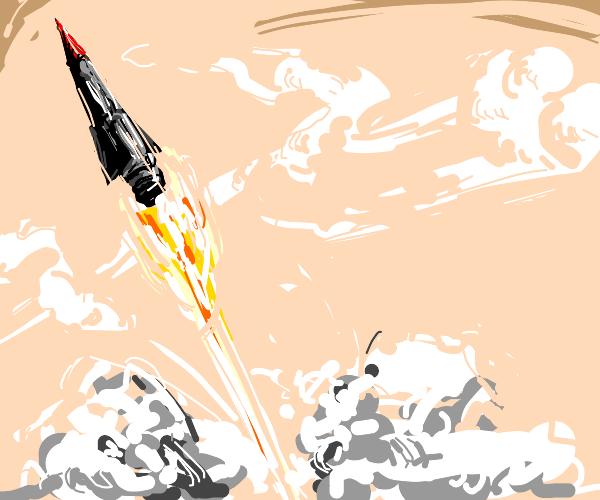Rocket takin off