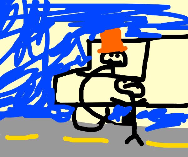 Mr Wonka kidnaps children in a van