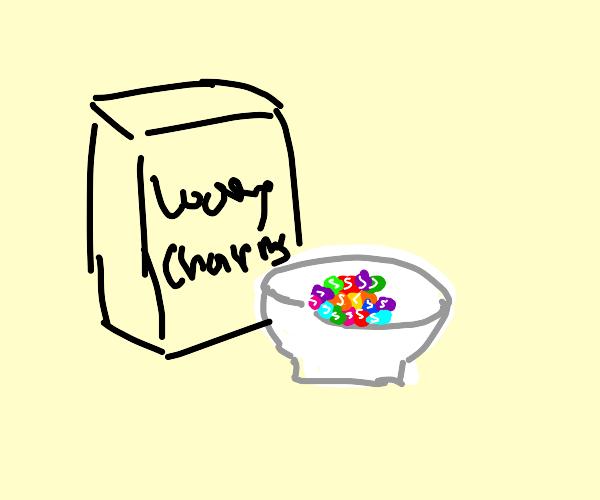 skittle bowl with rainbow lucky charm box btm
