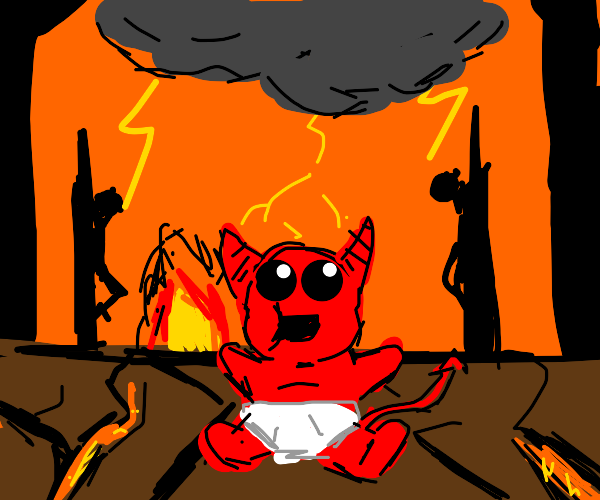 Baby Satan in Hell