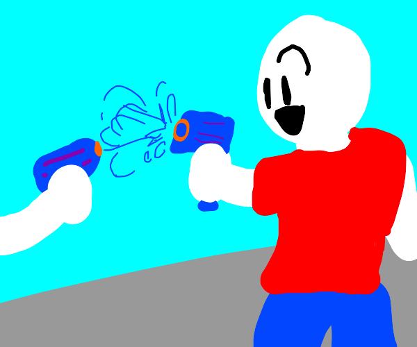 Watergun fight