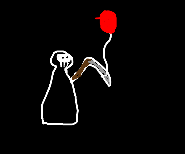 Grim Reaper with Balloon