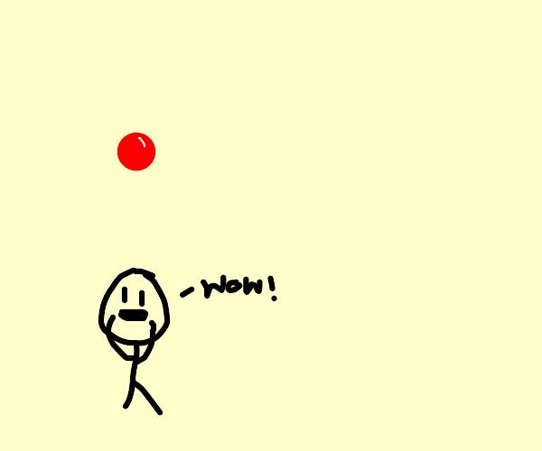 A dot! Wow!