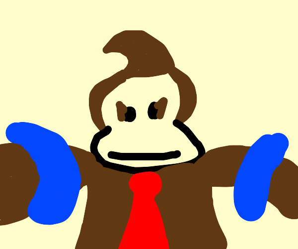 Donkey Kong with Inflatable armbands