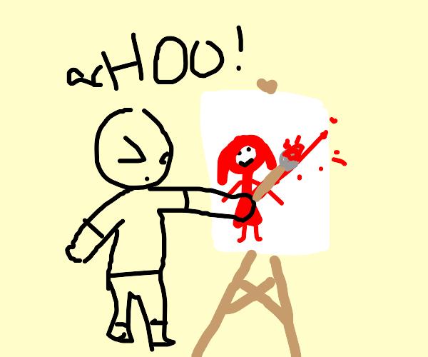 Artist Sneezing