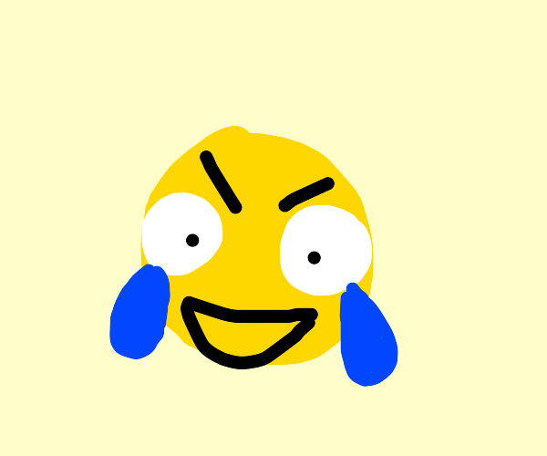 Angry cry-laughing emoji