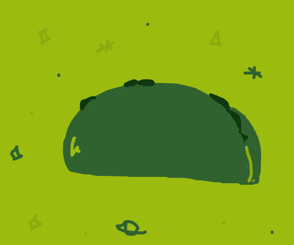 Green space taco