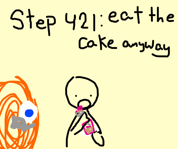 step 420: realize the cake is a lie