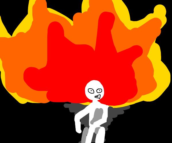 Running from a fire