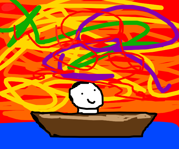 Psychedelic boat ride