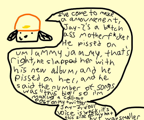 Parappa has something to say!